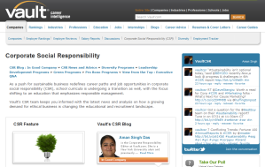 Careers in CSR and Sustainability