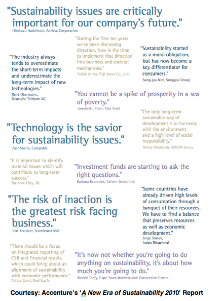 Accenture's New Era of Sustainability 2010 Report