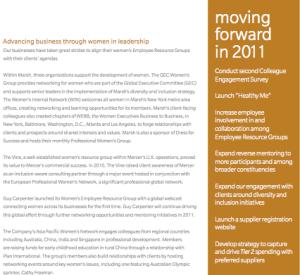 Marsh and McLennan's 2010 CSR Report
