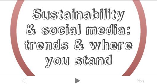 Sustainability and Social Media Trends